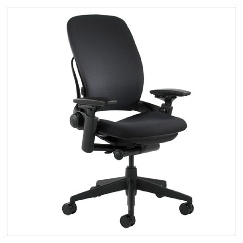 Steelcase Leap Fabric Chair, Black by Steelcase