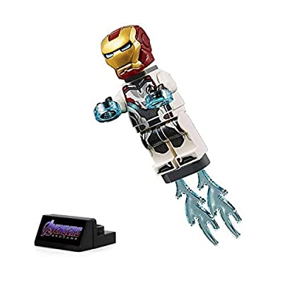 LEGO Super Heroes Avengers Endgame Minifigure - Iron Man (with White Jumpsuit) 30452: Toys & Games
