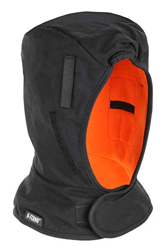 (N-Ferno 6852 Hard Hat Winter Liner, Durable Outer Shell,Thermal Fleece Lining, Shoulder Length)