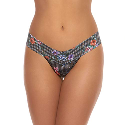 (Hanky Panky Checkered Past Low Rise Thong, One Size, Multi)