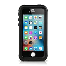 iPhone SE Waterproof Case, Merit IP68 Standard Protection Dirt-poof Shockproof Snow-proof and Waterproof Case for iPhone SE/5/5s (Black)