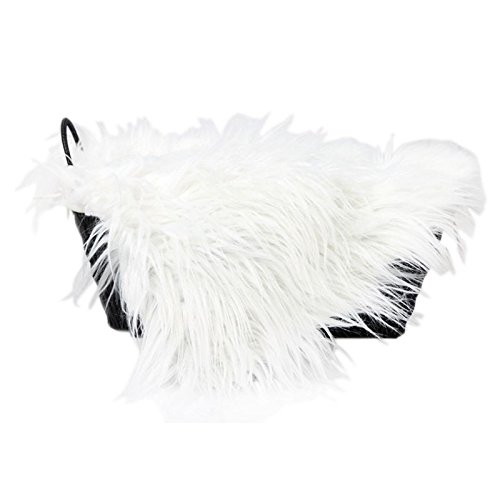 TOOGOO(R) Baby Newborn Faux Fur Photography Photo Props Blanket Basket Stuffer Rug Beanbag Background Backdrop White (Rug Faux Fur Prop Photo)