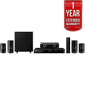Samsung 5.1ch 1000-Watt 3D Smart Blu-ray Home Theater System w/ Bluetooth (HT-J5500W) with 1 Year Extended Warranty