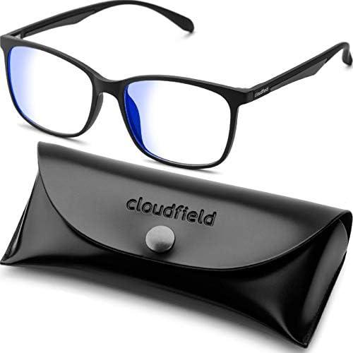 Blue Light Filter Computer Glasses for Blocking UV Headache Anti Eye Eyestrain Transparent Lens VL9007 White Frame
