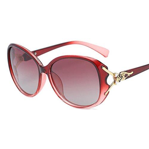 Gafas HOME Cara QZ UV Color Cara Purple Protección Larga Redonda Sol Gafas De Rojo Rwxdx18
