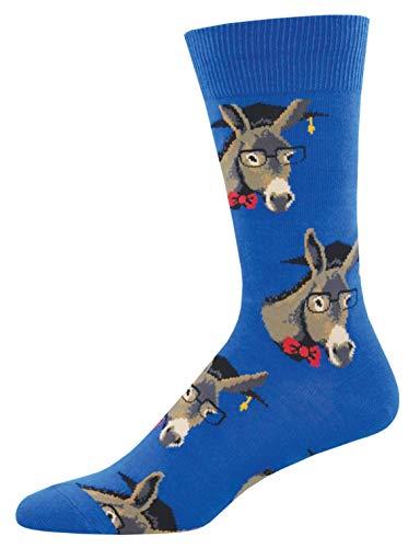 Socksmith Mens Novelty Crew Socks Smart Ass - One Size - Smart Men Socks