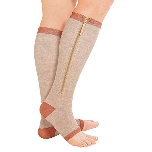 Copper Support Zip Socks, Large/x-Large, 1 Pair