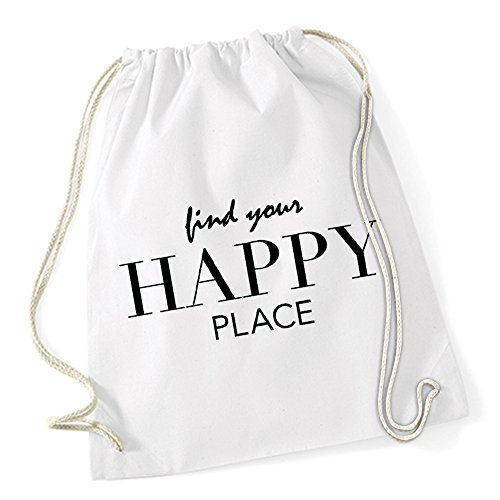 Find Your Happy Place Gymsack White Certified Freak