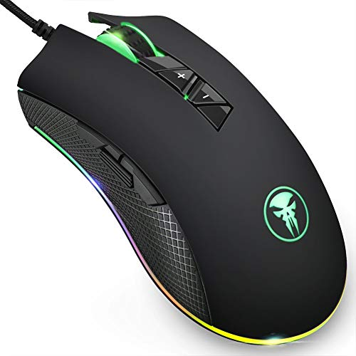 08f135430ad Qida Updated Gaming Mouse,[4000 DPI] [Programmable Buttons] 8 Buttons Gaming