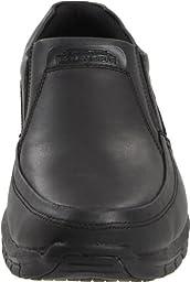 Skechers for Work Men\'s Solace Work Shoe,Black,9.5 M US