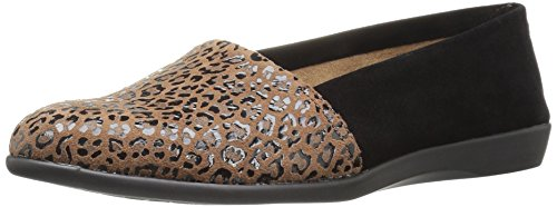 Aerosoles Women's Trend Setter Slip-On Loafer, Leopard Combo, 7.5 W US (Combo Solo)