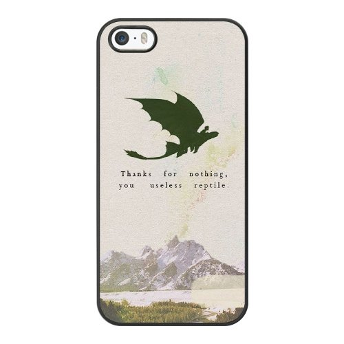 Coque,Coque iphone 5 5S SE Case Coque, Train Your Dragon Quotes Cover For Coque iphone 5 5S SE Cell Phone Case Cover Noir