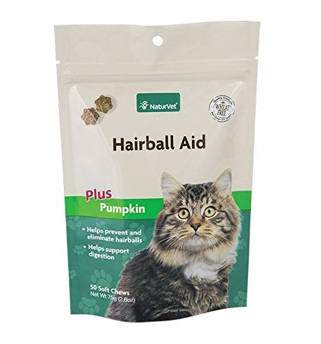 NaturVet 50 Count Hairball Plus Vitamin Soft Chew for Cats