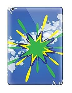 Excellent Design Artistic Freevector Green Star Design Phone Case For Ipad Air Premium Tpu Case