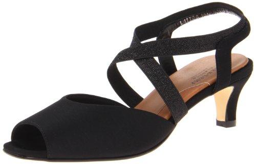 Footwear Walking Cradles (Walking Cradles Women's Boa Dress Pump,Black Micro,7.5 N US)