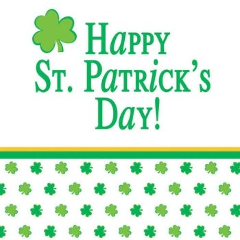 Shamrock Stripes Happy St Patrick's Day Beverage Napkins 18 Per Pack by Creative Converting