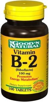 Good'n naturel - Vitamine B-2 (riboflavine) 100 mg, 100 comprimés
