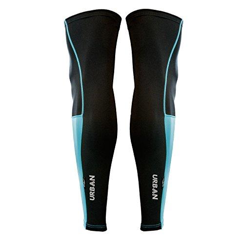 Urban Cycling DUAL SERIES Thermal Leg Warmers (pair) (S/M, Blue/Black) ()