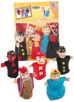 Happy People 45803 - 5 Kasperle Finger-Puppen 12 cm