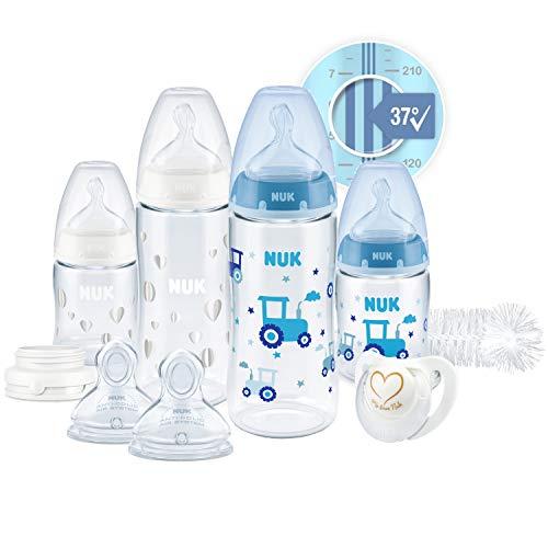 NUK First Choice+ Perfect Start Babyflessen Set Anti-colic babyflessen (2 x 150 ml & 2 x 300 ml), flessenborstel & meer…