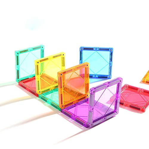 KUHU Magnetic Assembly Toy Light Magnetic Building Blocks Color Window Magnetic Piece Children Assembled Toys by KUHU (Image #3)