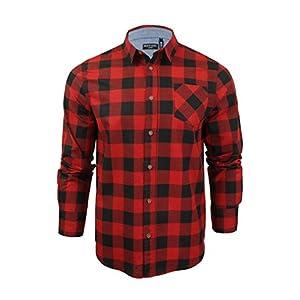 160a77c32f7504 Brave Soul Uomo JackD Camicia A Quadri Design Chambray Dettaglio Top In  Cotone