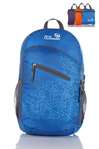 Outlander Packable Handy Lightweight Travel Hiking Backpack Daypack-Dark Blue-L