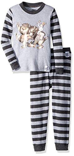 Where the Wild Things Are Toddler Boys Bookjama Pajama Set, Gray, 3T