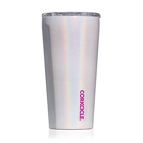 Corkcicle Tumbler - Classic Collection - Triple Insulated Stainless Steel Travel Mug, Sparkle Unicorn Magic, 16 oz