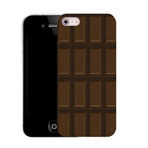 Mobile Case Mate IPhone 5S clip on Silicone Coque couverture case cover Pare-chocs + STYLET - chocolate bar pattern (SILICON)