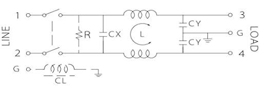 Unbekannt TE Connectivity 6609006-5 Netzfilter mit Kaltger/ätebuchse 250 V//AC 3 A 1.5 mH 1 St.