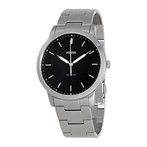 Fossil Men's The Minimalist Quartz Stainless Steel Dress Watch, Color: Silver-Tone (Model: FS5307)