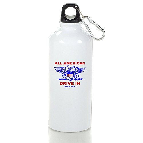 - Xihuan All American HAMBURGER Drive In Aluminum Outdoor Sports Bottle Perfect For Rowing Stoup White 400ml
