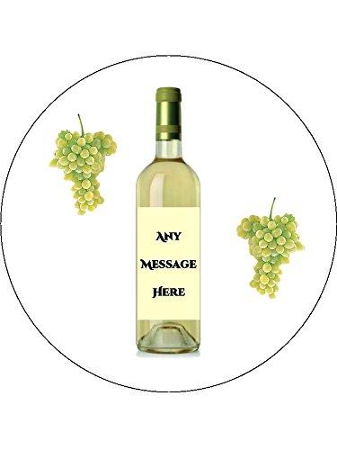 Novelty Personalised White Wine Bottle & Grapes 7.5