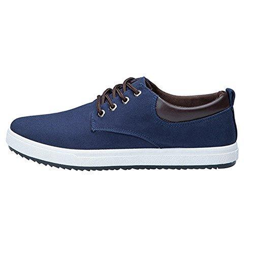 Bomkin tela uomo blu da classiche Scarpe r4gTwrqB
