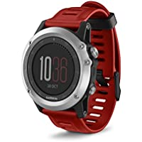 Garmin Fenix 3 Multisport Training GPS Watch (Silver & Red Band)
