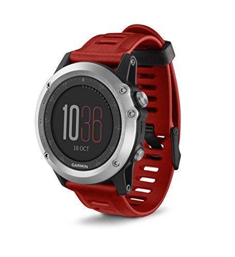 Garmin fnix 3 Activity Tracker Silver/Red 010-01338-05