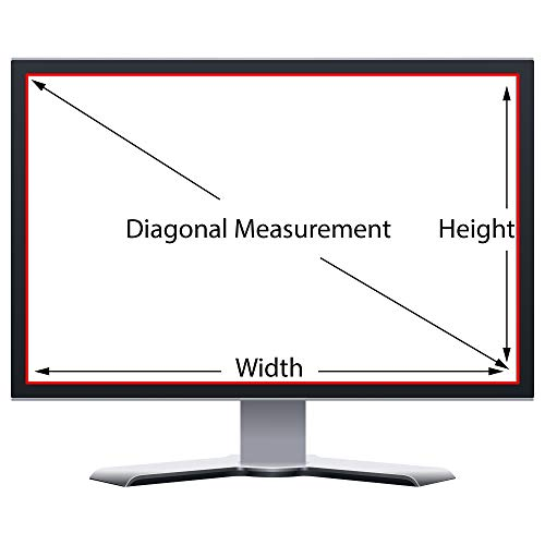 Privacy Screen Filter and Anti Glare for 23 Inches Desktop Computer Widescreen Monitor with Aspect Ratio 16:09 Please check Dimension Carefully