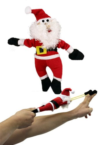 Playmaker Toys Holiday Slingshots - Flying Ho-ing Santa (Monkey Slingshot)