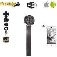 Botón cámara espía WiFi de Pinganillosocultos. Calidad HD