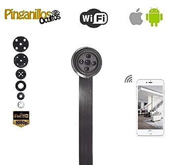 Botón cámara espía WiFi de Pinganillosocultos. Calidad HD 1080p Real. Ideal para Espionaje o exámenes (Folios A4): Amazon.es: Bricolaje y herramientas