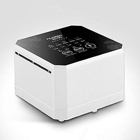 DZSF Purificador de Aire de Escritorio pequeño para el hogar, generador de Iones Negativos con Filtro HEPA Verdadero Mini Limpiador de Aire Compacto para ionizador de Aire de Escritorio (Blanco): Amazon.es: Deportes