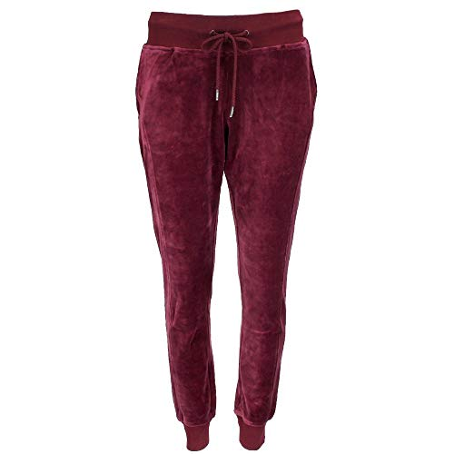 (PUMA Women's x Fenty by Rihanna Velour Fitted Track Pants Tawny Port Small)