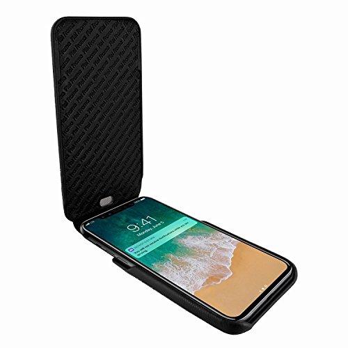 Piel Frama 792 Black Ostrich iMagnum Leather Case for Apple iPhone X