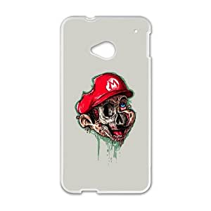 HTC One M7 Cell Phone Case White super zombroz DVX Cheap Cell Phone Covers