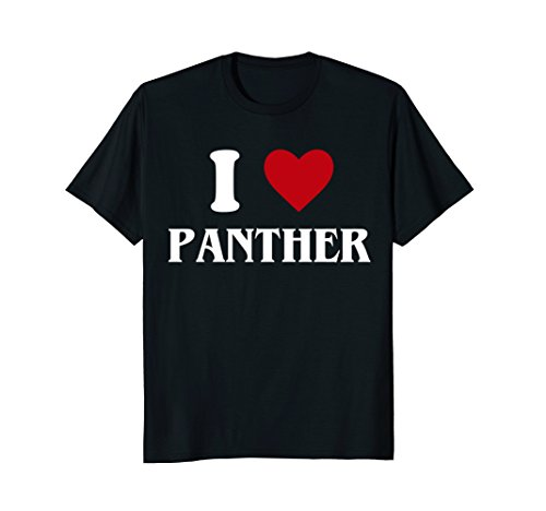I Love Panther T-Shirt Funny Animal Shirt (Love Panthers)
