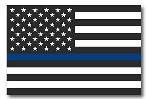 Thin Blue Line American Flag Magnet Decal - Heavy Duty for Car Truck SUV - In Support of Police and Law Enforcement Officers