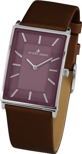 Jacques Lemans York 1-1604G Stainless Steel Case Calfskin Anti-Reflective Sapphire Women's Watch