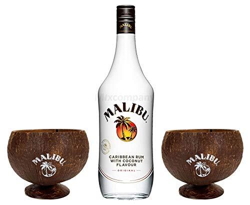 Malibu echte Kokosnuss Kokos Cocktail Becher Sammeln & Seltenes