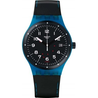 Swatch SUTS402 Sistem51 Class Black Silicone Strap Watch